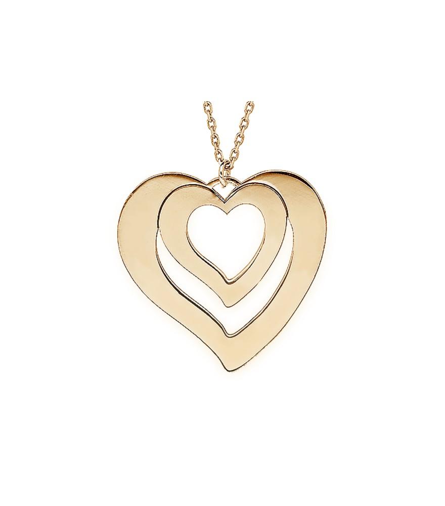 collier double coeur