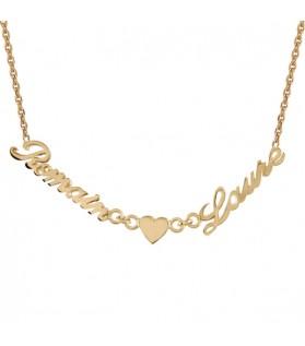 Bracelet 2 prénoms et coeur